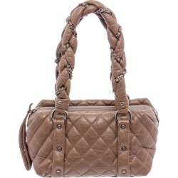 Chanel Beige Quilted Leather Lady Braid Bag