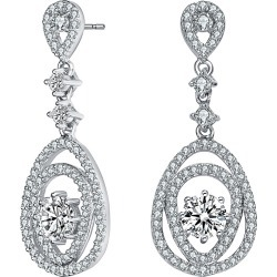 Genevive Silver Earrings found on Bargain Bro India from Gilt for $59.99