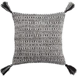 Jaipur Living Cerise Trellis Black & Gray Throw Pillow