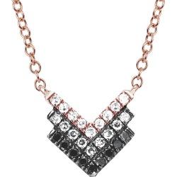 EF Collection 14K Diamond Fade Shield Necklace