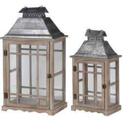 A&B Home Set of 2 Classic Scape Lanterns