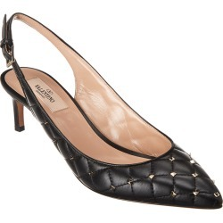 Valentino Rockstud 65 Spike Quilted Leather Slingback Pump found on Bargain Bro India from Gilt City for $565.99