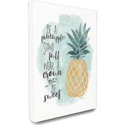Stupell Be a Pineapple Illustration Typography Canvas Art found on Bargain Bro Philippines from Gilt City for $49.99
