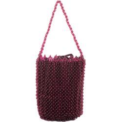 Bottega Veneta Burgundy Bead Bucket Bag
