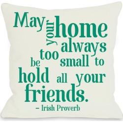 One Bella Casa Home Irish Proverb Pillow