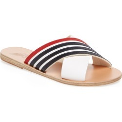 Ancient Greek Sandals Thais Striped Leather Sandal found on MODAPINS from Ruelala for USD $65.99