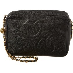 Chanel Black Caviar Leather 3 CC Camera Bag found on Bargain Bro India from Gilt City for $2600.00