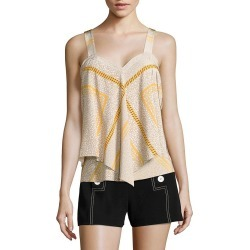 Derek Lam Tiered Silk Cami Top found on MODAPINS from Ruelala for USD $119.99