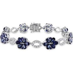 14K 13.79 ct. tw. Diamond & Blue Sapphire Bracelet found on Bargain Bro from Gilt for USD $3,549.19
