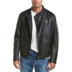 Armani Exchange Asymmetric Leather Moto Jacket found on MODAPINS from Ruelala for USD $299.00