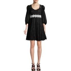 Dolce & Gabbana Lace Puff Sleeve Dress