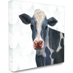 Stupell The Stupell Home Decor Collection Patriotic Farm Cow Painting with Blue Stars found on Bargain Bro Philippines from Ruelala for $39.99