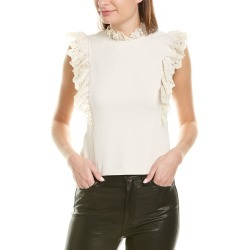Rebecca Taylor Crepe Lace Top found on Bargain Bro India from Gilt for $149.99
