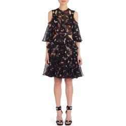 Alexander McQueen Ruffled Cold-Shoulder Silk Blend Dress found on MODAPINS from Ruelala for USD $1299.99