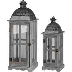 A&B Home Set of 2 Urban Scape Lantern