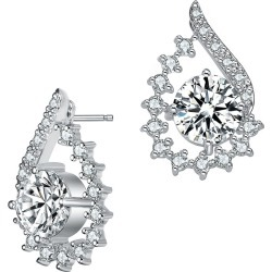 Genevive Silver Earrings found on Bargain Bro India from Gilt for $39.99