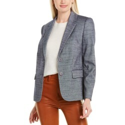 Rebecca Taylor Twill Linen-Blend Suit Jacket found on Bargain Bro from Gilt City for USD $141.35