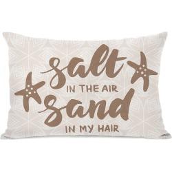 One Bella Casa Salt Air Sand Hair Outdoor Pillow