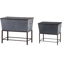 A&B Home Set of 2 Zale Planters with Stands