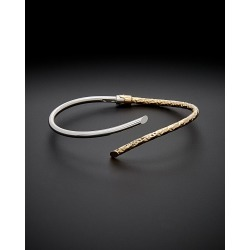 18K Italian Gold Two-Tone Bypass Bangle found on Bargain Bro Philippines from Gilt for $519.99