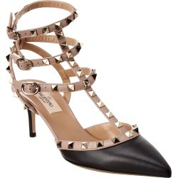 Valentino Rockstud Caged 65 Leather Ankle Strap Pump found on Bargain Bro Philippines from Gilt for $799.99