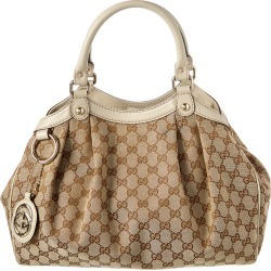 Gucci Brown GG Canvas & Cream Leather Sukey found on MODAPINS from Ruelala for USD $800.00