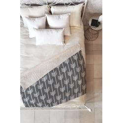 Deny Designs Holli Zollinger Arrows Grey Fleece Throw Blanket