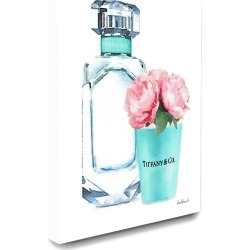 Stupell The Stupell Home Decor Collection Teal Blue Perfume Bottle and Pink Peonies found on Bargain Bro Philippines from Ruelala for $49.99