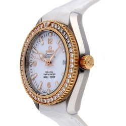 Omega Men's Leather Diamond Watch found on MODAPINS from Ruelala for USD $7289.00