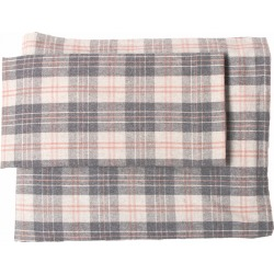 Belle Epoque Solid Flannel Grey Rose Sheet Set found on Bargain Bro India from Ruelala for $99.99