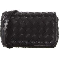 Bottega Veneta Mini Intrecciato Weave Leather Shoulder Bag