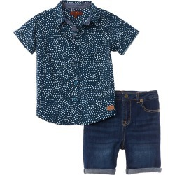 7 For All Mankind Button Front Shirt Set found on MODAPINS from Ruelala for USD $22.99