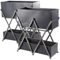 Rectangular Double-Deck Plant Stands