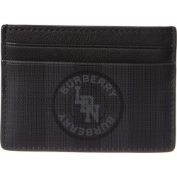 Burberry Logo Graphic London Check Leather Card Case found on Bargain Bro Philippines from Ruelala for $139.99