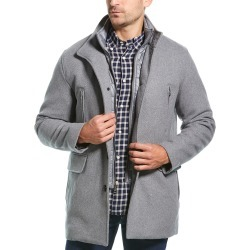Cole Haan Signature Twill Wool-Blend Coat
