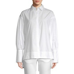 WHITE STORY High-Low Button-Front Shirt found on Bargain Bro India from Ruelala for $75.99