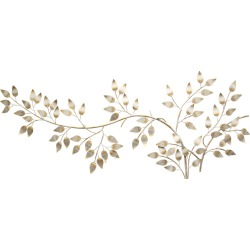 Stratton Home Decor Brushed Gold Flowing Leaves Wall Decor found on Bargain Bro India from Gilt for $159.99