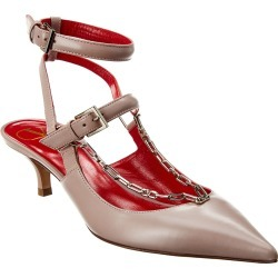 Valentino Chain 45 Leather Ankle Strap Pump found on Bargain Bro Philippines from Ruelala for $579.99