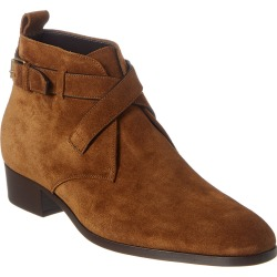 Saint Laurent Wyatt 30 Buckle Suede Boot found on Bargain Bro India from Gilt for $759.99