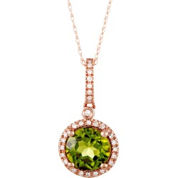 14K Rose Gold 0.11 ct. tw. Diamond & Peridot Necklace found on Bargain Bro India from Ruelala for $299.99