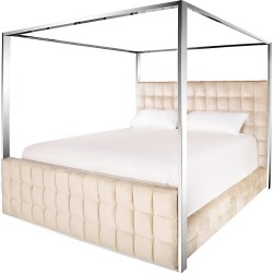Safavieh Couture Alecxi Velvet King Canopy Bed found on Bargain Bro India from Gilt for $2669.99