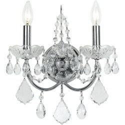 Crystorama 2-Light Imperial Sconce found on Bargain Bro from Gilt City for USD $159.59