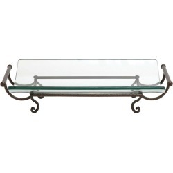 New Traditional Iron & Glass 22in Long Plate Server