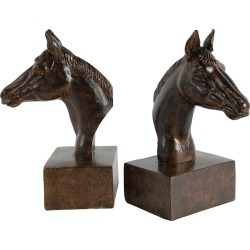 A&B Home Set of 2 Horse Bookends