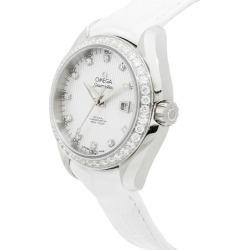 Omega Women's Leather Diamond Watch found on MODAPINS from Gilt for USD $6989.00