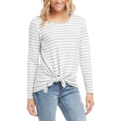Karen Kane Stripe Side Tie Top
