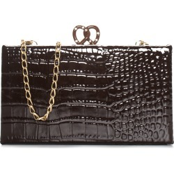 Edie Parker Brown Embossed Leather Pretzel Clutch NM, NWT found on MODAPINS from Gilt for USD $560.00