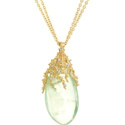 Michael Aram Ocean 18K Diamond & Green Florite 30in Necklace found on Bargain Bro India from Gilt City for $1949.99