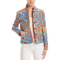 Valentino Embroidered Wool & Silk-Blend Blazer found on Bargain Bro India from Ruelala for $1049.99