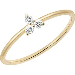 EF Collection 14K Diamond Trio Stack Ring